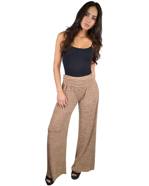 High Waist Textured Palazzo Pants