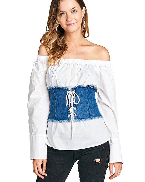 Fashion denim corset