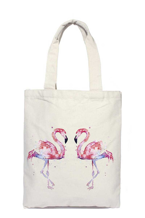 Flamingo love stare tote bag