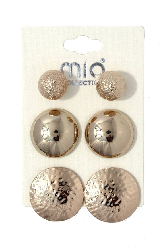 Metal earring set
