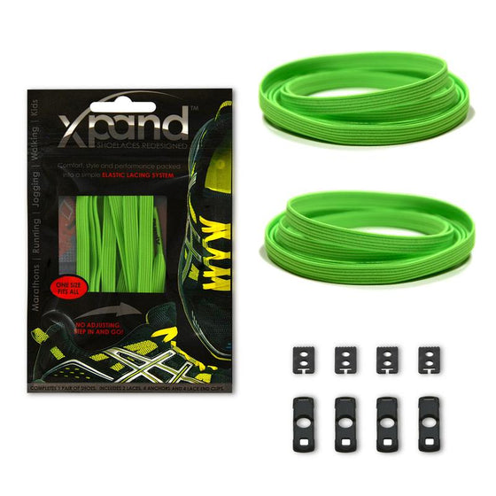 Xpand Neon Green One Size Fits All, Laces, senditgear - Sendit Gear Canada