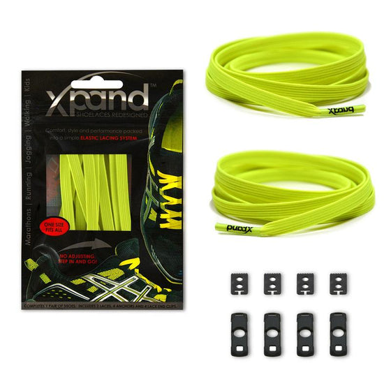 Xpand Lemon Lime Laces One Size Fits All, Laces, senditgear - Sendit Gear Canada