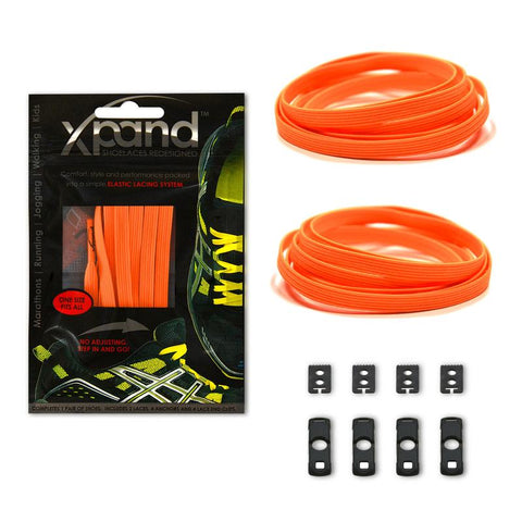Xpand Neon Orange Reflective Laces One Size Fits All, Laces, senditgear - Sendit Gear Canada