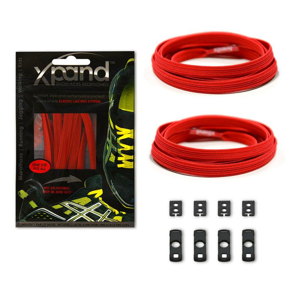 Xpand Red Shoelaces - No Tie Shoelaces- Sendit Gear Canada