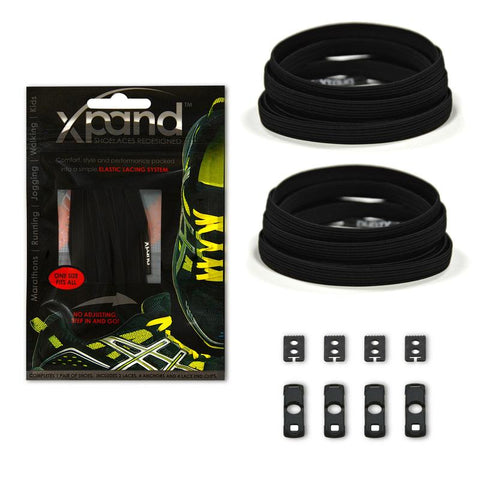 Xpand Black One Size Fits All, Laces, senditgear - Sendit Gear Canada