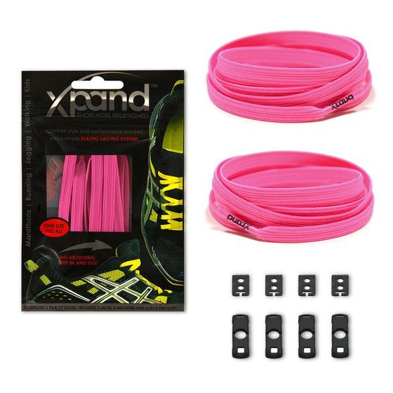 Xpand Neon Pink Shoelaces - No Tie Shoelaces - Sendit Gear Canada
