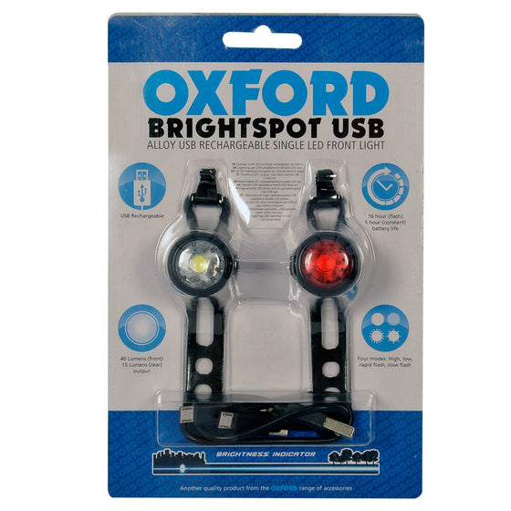 Brightspot LED Bike light, Black Pair