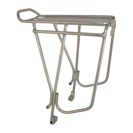 Alloy Disc Compatible Luggage Rack Silver