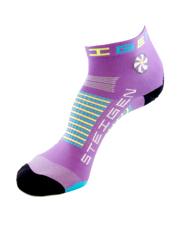 Steigen Performance Sock Bubblegum Purple ¼ Length - Sports Socks