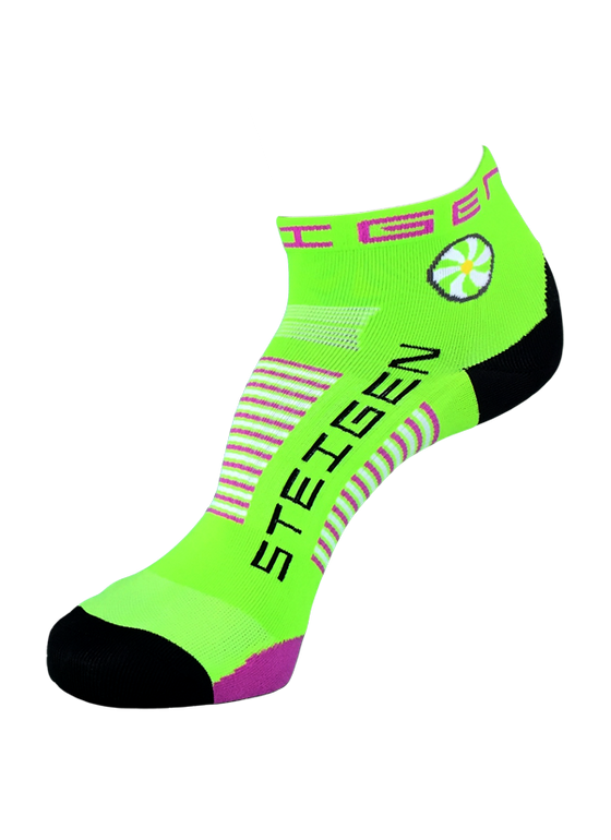 Steigen Performance Sock Fluo Green ¼ Length - Ankle Sports Socks
