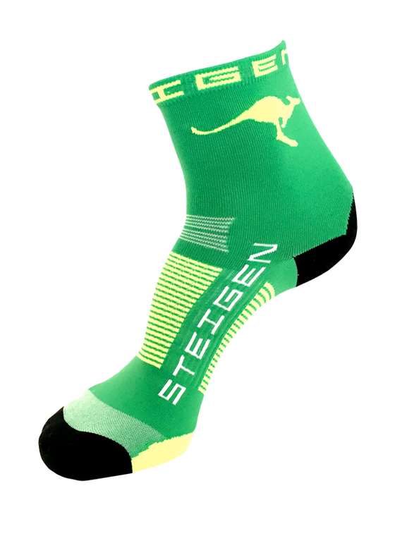Steigen Performance Sock AUS ½ Length -  Green Socks
