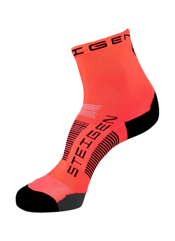 Steigen Performance Sock Fluo Red ½ Length - Crazy Socks