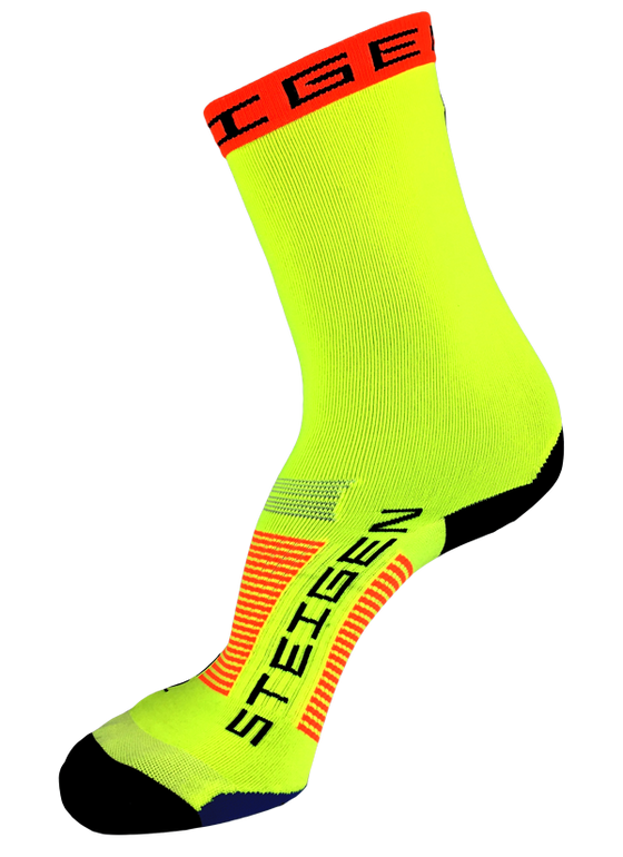 Steigen Performance Sock Fluo Yellow ¾ Length - Basket Ball Socks
