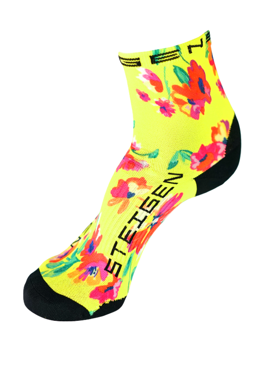 Steigen Performance Sock Spring Floral ½ length - Designer Socks
