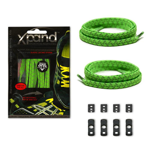Xpand Neon Green Reflective One Size Fits All, Laces, senditgear - Sendit Gear Canada