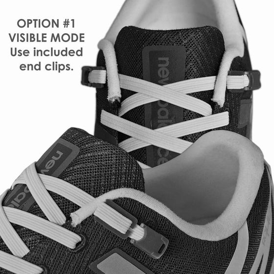 Xpand Black Reflective Shoelaces - No Tie Shoelaces- Sendit Gear Canada