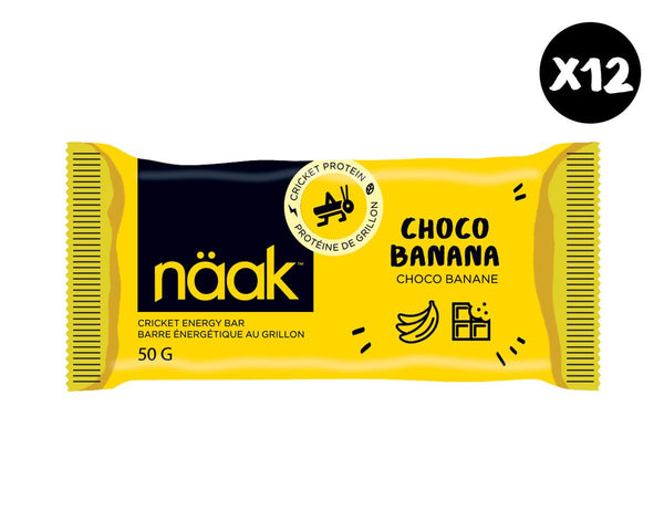 Naak Bar Choco Banana / Box of 12, Energy, senditgear - Sendit Gear Canada