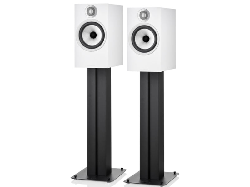 B&W 606 S2 Anniversary Edition White on Stands