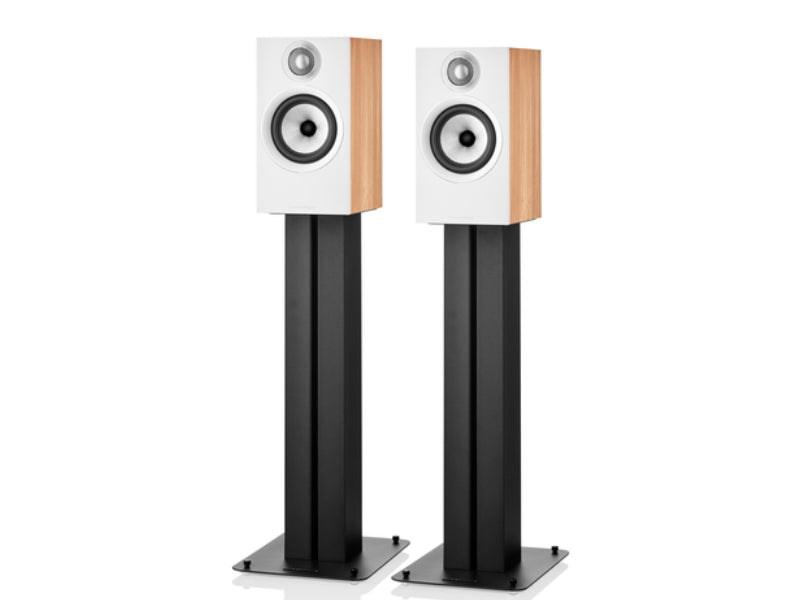 B&W 607 S2 Anniversary Edition Speakers Oak on Stands