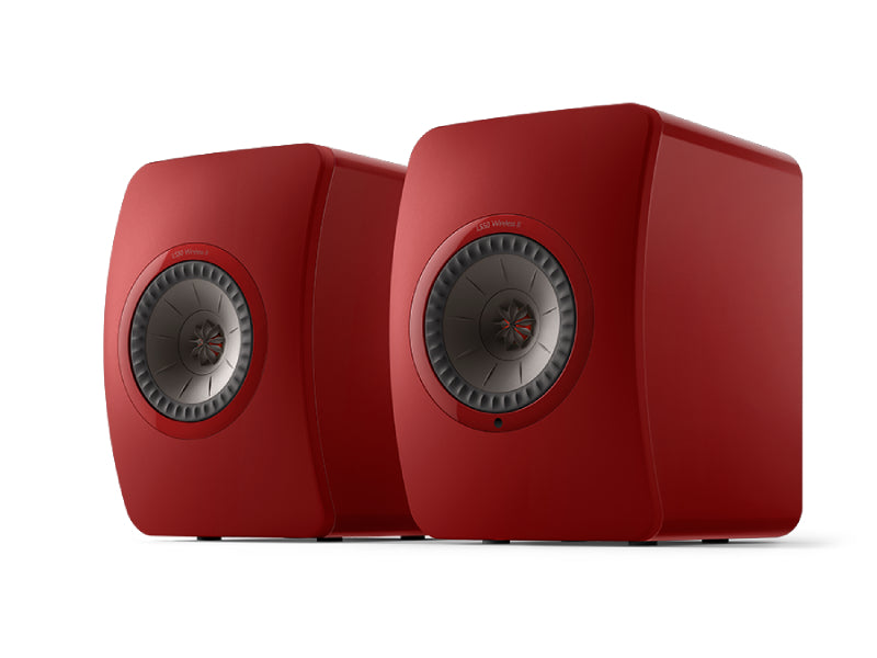 Kef LS50 Wireless II Speaker System Crimson Red