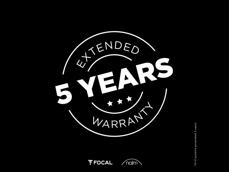 5 Year Extended Warranty Included