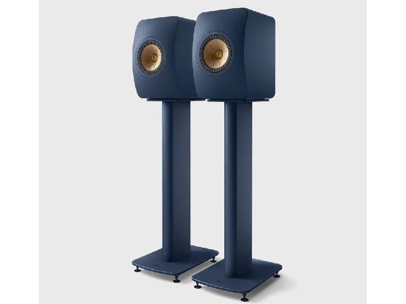 Kef LS50 Metta on S2 Floor Stand Royal Blue