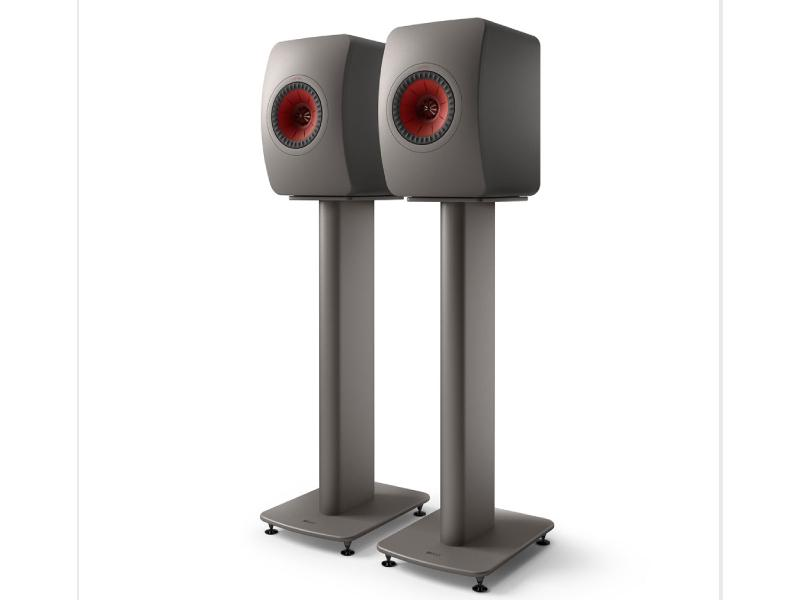 Kef LS50 Wireless II Speaker System with Kef S2 Floor Stands Titanium Grey