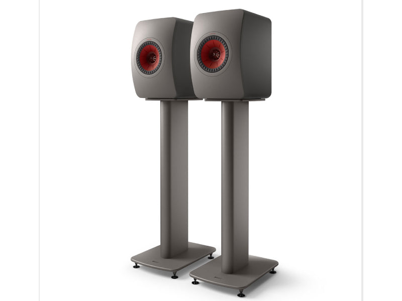 Kef LS50 Metta on S2 Floor Stand Titanium Grey