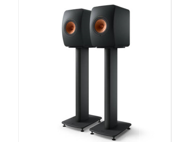 Kef LS50 Metta on S2 Floor Stand Carbon Black