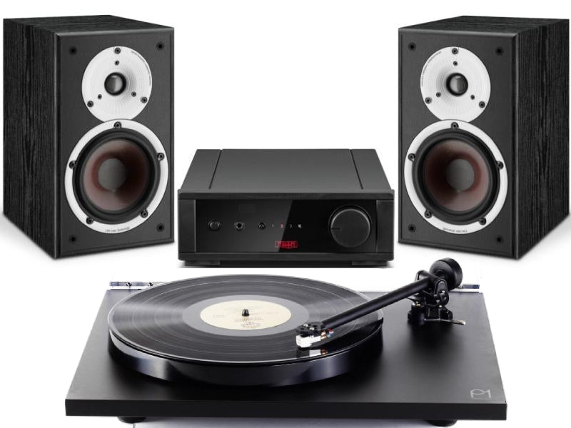 Rega Planar 1 Turntable Starter System with  Rega io Amplifier & Dali Spektor 2 Speakers