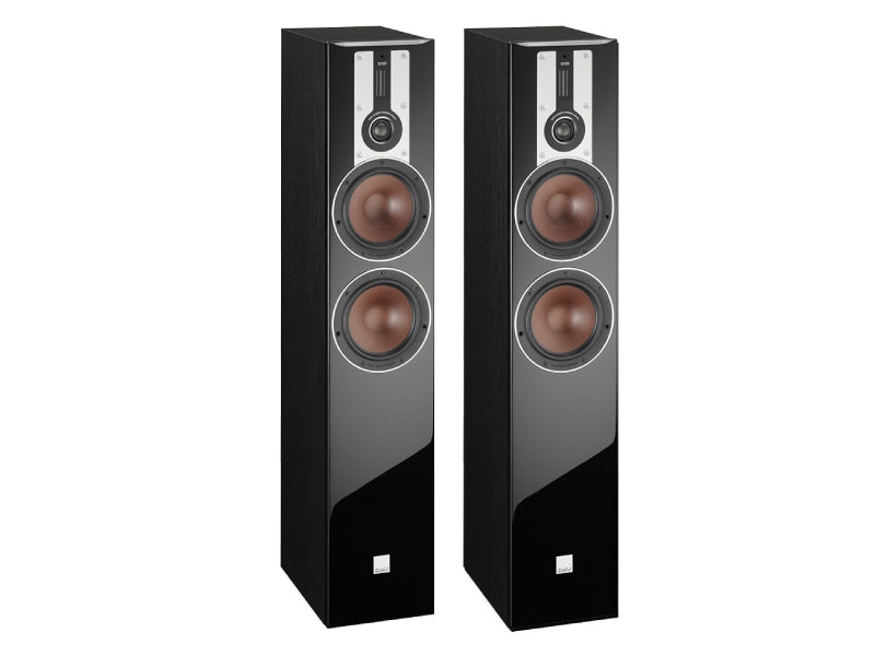 Dali Opticon 6 Floorstanding Speakers - Black Ash