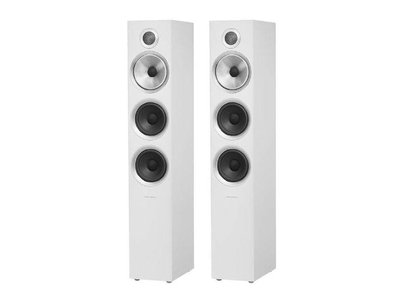 B&W 704 S2 Speakers Satin White