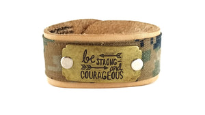 Be Strong and Courageous | Leather ValorBAND™