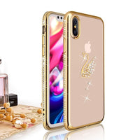 Coque rose (ou couleur or) incassable pour  iPhone X  7 8 6 Plus