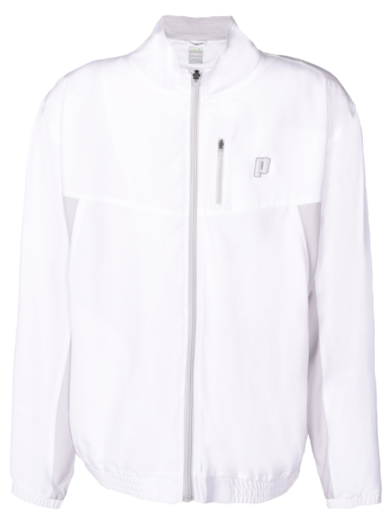 Mens Full Zip Warm-up Jacket (White)