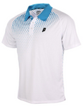 Graphic Polo ( Men ) White/Energy Blue
