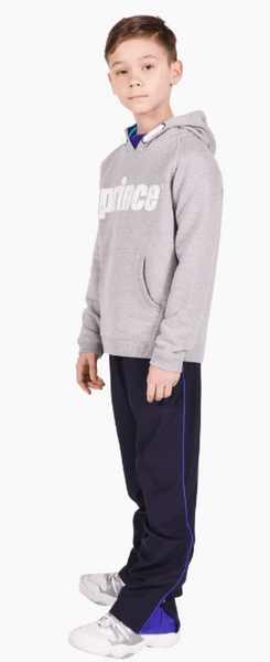 Boys Prince Full Zip Warm-up Pants in Navy