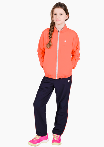 Prince Girls Warm Up Pants in Navy
