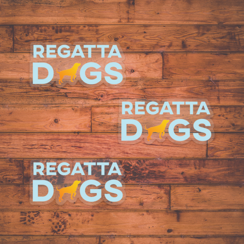Regatta Dogs Logo Sticker 3-Pack