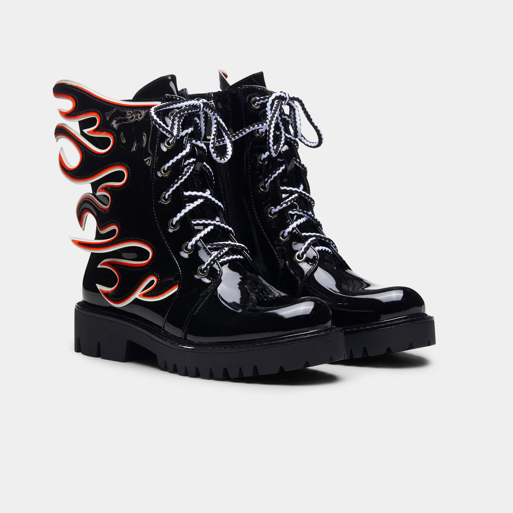 Black FLAMO Combat Boots 4 view 4