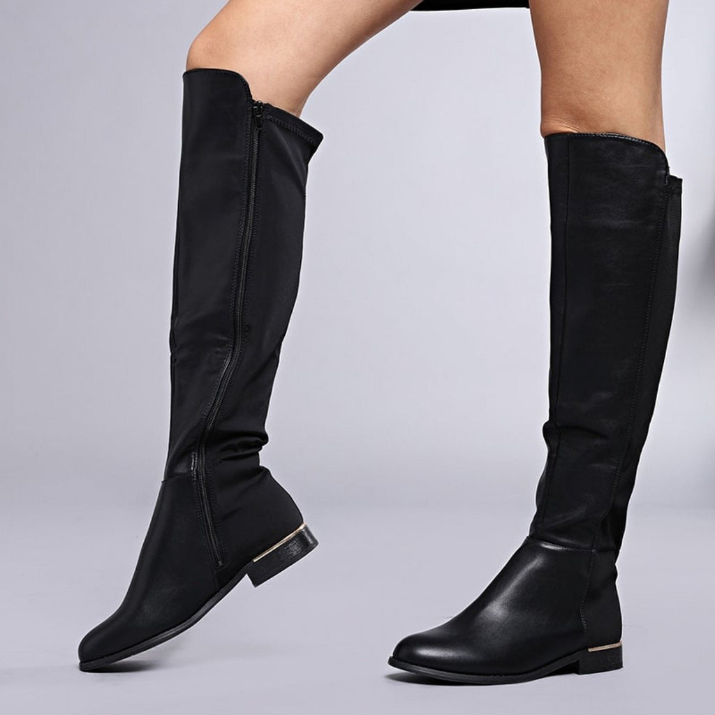 SIA Flat Knee High Boots view 3