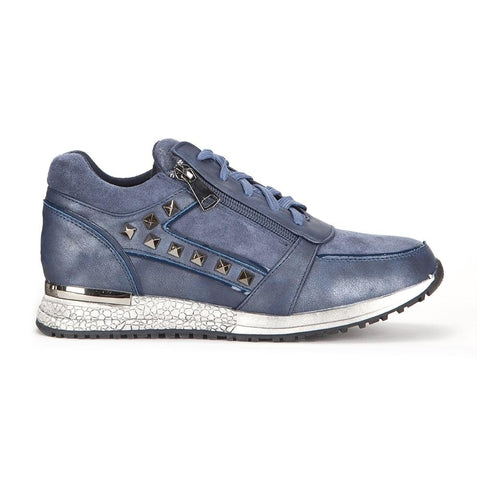 Blue Studded Trainers