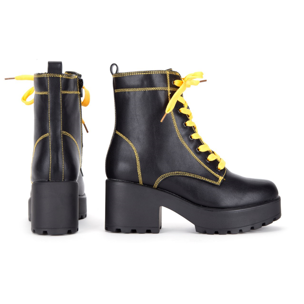KITANA Yellow Laced Boots Size 10 view 5