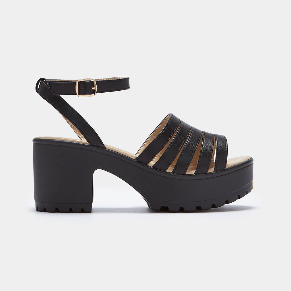 KOI Footwear DAE Multi Strap Sandals Vegan Chunky Sandals view 2
