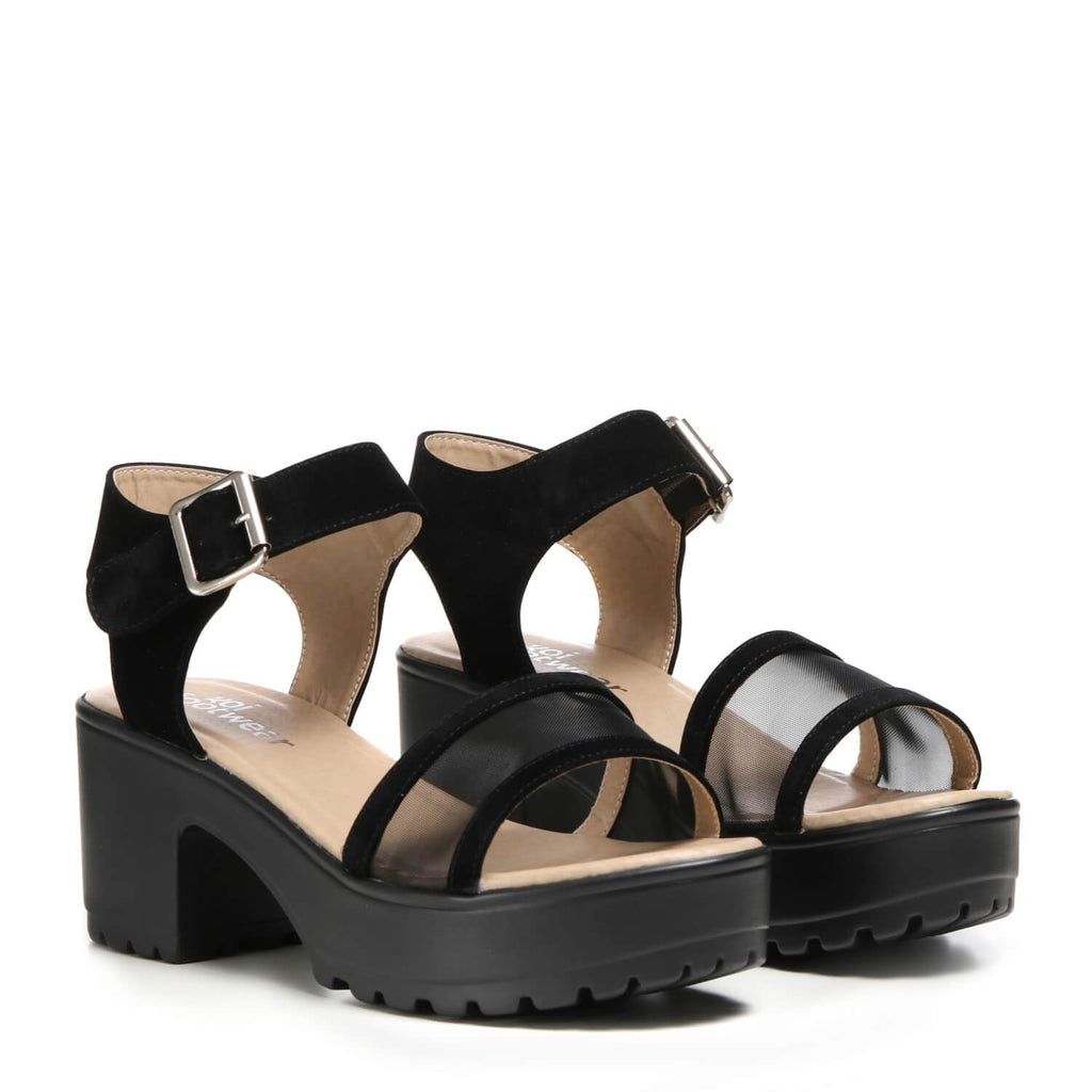 SAAM Mesh Chunky Sandals view 3