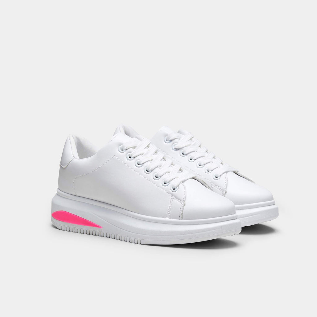 Fenic Neon Sole Sleek Chunky Trainers view 3