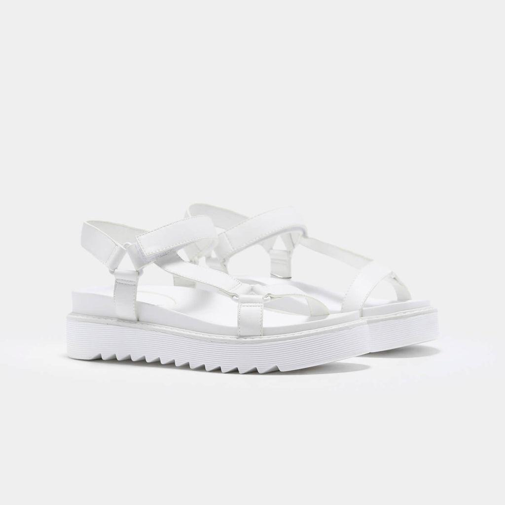 ZODY Footwear Amari Barely There White Sandals Vegan Strappy Sandals view 5