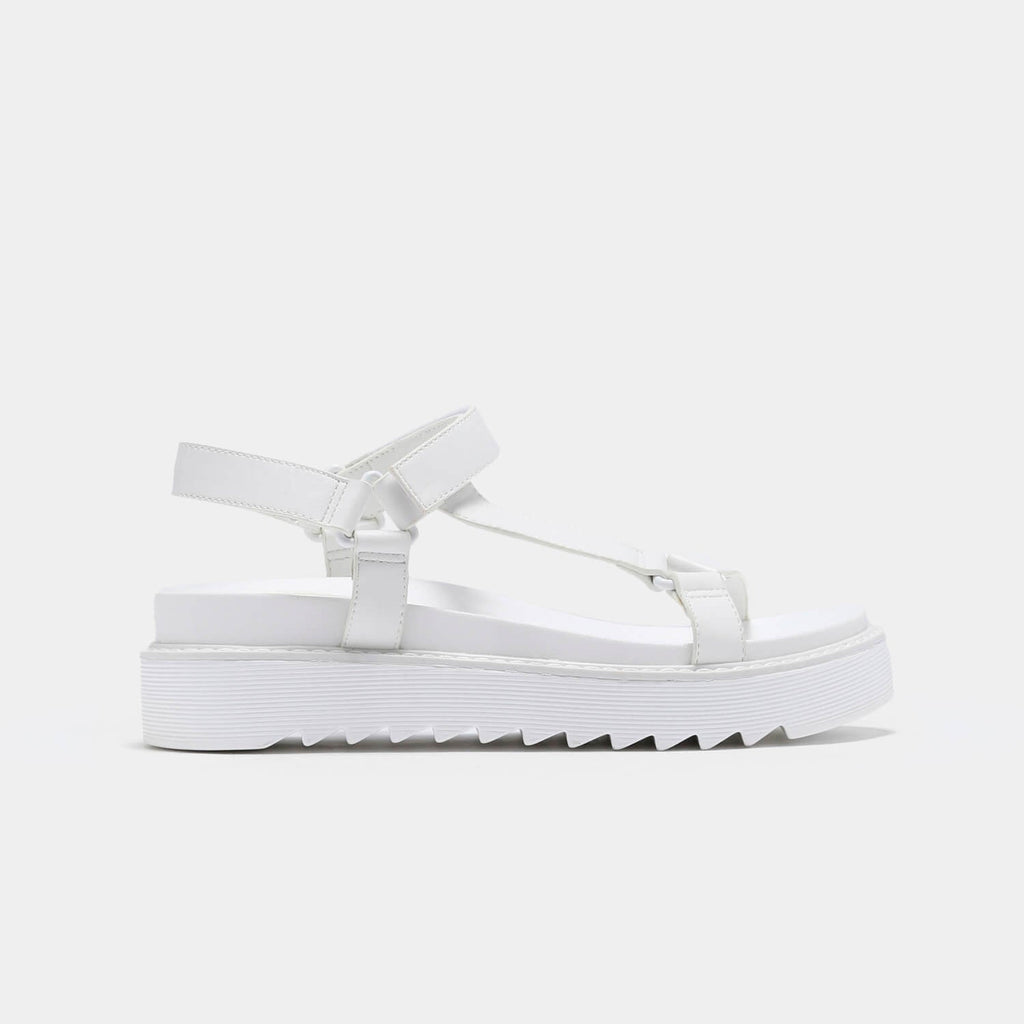 ZODY Footwear Amari Barely There White Sandals Vegan Strappy Sandals view 3