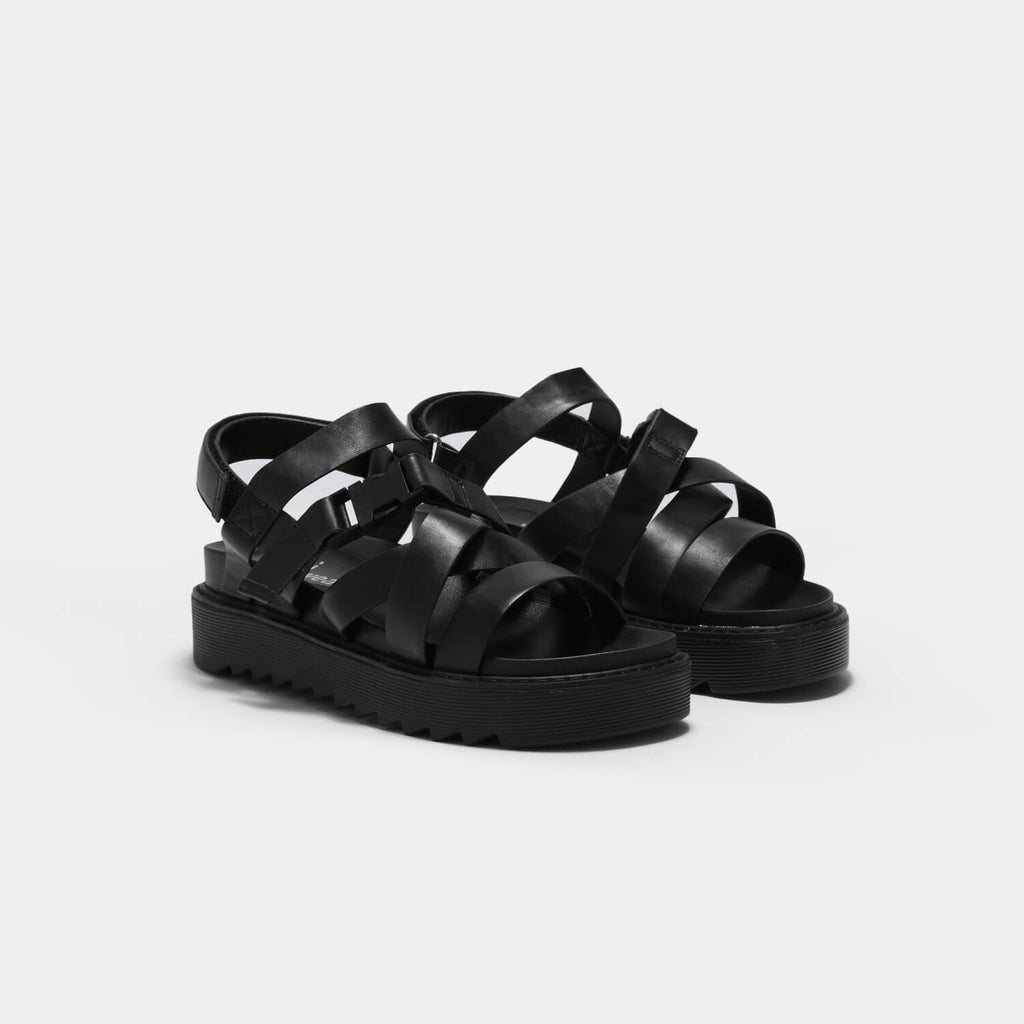 KOI Footwear Zola Extra Strappy Black Sandals Vegan Strappy Sandals view 4