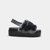 VAULT Slingback Plush Fur Sliders